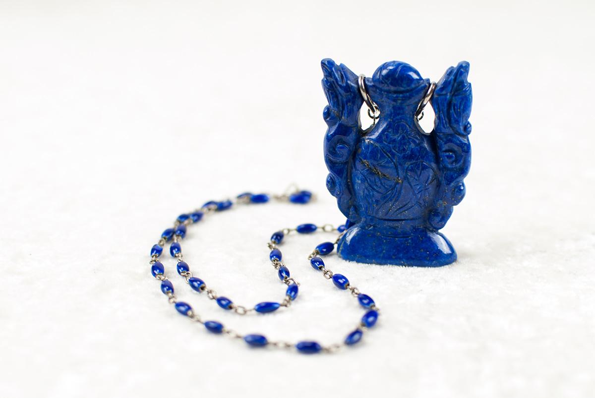 Antiker Lapis-Lazuli-Flakon | atelier ie.
